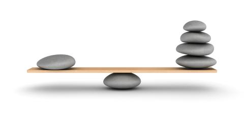 Balance zen avec galets